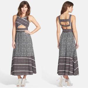 NWT FREE PEOLE Tribal Tale Cutout Maxi Dress 10
